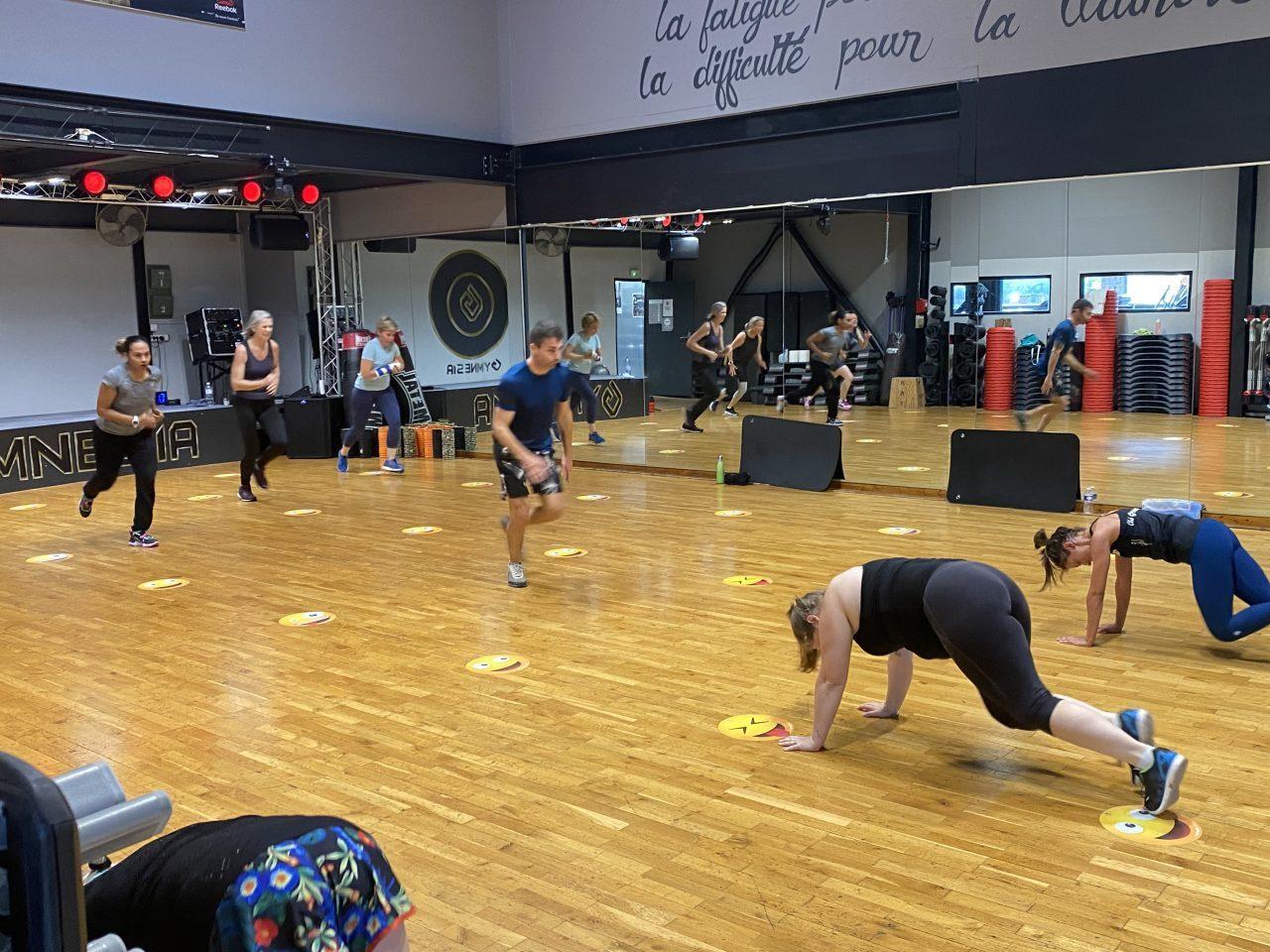 Photo du cours collectif des Mills Tone à la salle Gymnesia Crolles