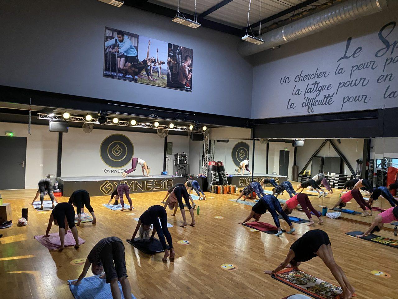 Cours collectif de Body Balance à la salle de Gymnesia Crolles