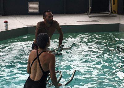 Cours collectif dans la piscine de Gymnesia Crolles